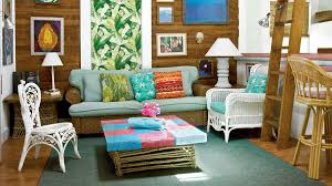 key west living room with blended furnishings key west key west style interiors and homes coastal living