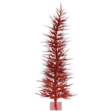 red slim christmas trees you u0027ll love wayfair
