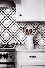 what is the best backsplash for a white kitchen white glossy lantern arabesque porcelain mosaic tile wall and floor backsplash