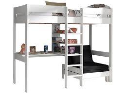 lit mezzanine et canapé lit mezzanine lena avec canapé lit blanc acheter en ligne emob