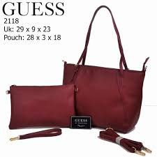Tas Guess tas guess delaney signature 2in1 branded import model terbaru 2017