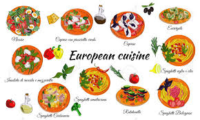 european cuisine european cuisine menu of dishes and food