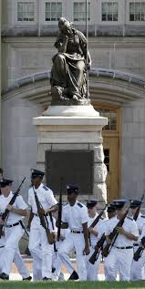 Black Flag Statue Puzzle Vmi Leaders Say Military College Will Keep Confederate Statues