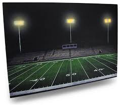 forever friday football field canvas print 20x14 led lights