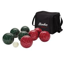 champions bocce ball set official size 107mm backyard