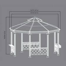 hardtop patio gazebo amazon com sunjoy 13 foot heavy duty octagon hardtop outdoor