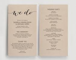 diy wedding program templates beautiful printable wedding program templates gallery styles