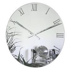 clocks large mirrored wall clock bathroom mirror clock mirror