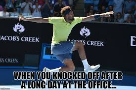 Tennis Memes - 2018 ao the meme game