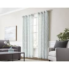 Single Curtains Window Shop Style Selections Lapeer 95 In Seaglass Cotton Grommet Light