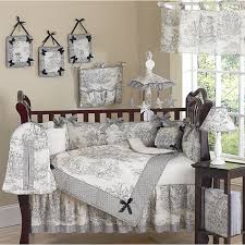 Ideas For Toile Quilt Design This Black Ivory Toile Themed Nine Baby Bedding Set Was