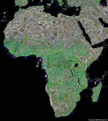 Blank Physical Map Of Europe by Africa Map And Satellite Image