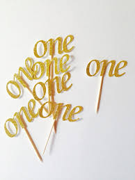 number cake topper online shop gold glitter one number cupcake toppers personalized
