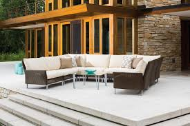 Teak Sectional Patio Furniture Teak Is Trending Wrought Iron Patio Furniture Hgtv Garden Trends