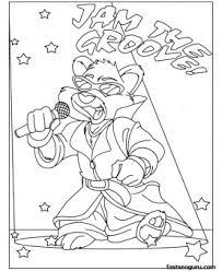 printable animal hip hop bear coloring pages kids printable