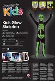 amazon com morphsuits glow in the dark skeleton kids halloween