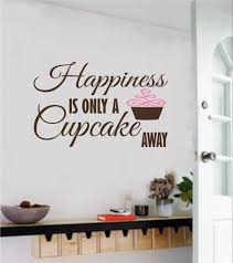 wall decals stickers home decor home furniture diy happiness is only a cupcake away vinyl decal wall decor stickers letters words