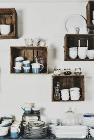 kitchen wall shelving ideas wall mounted box shelves a trendy variation on open shelves