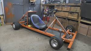 homemade truck go kart making a motorised go cart with no welder and simple tools 1
