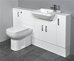 slimline gloss white bathroom furniture 1400mm square basin sink