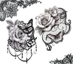 lace butterfly design forearm
