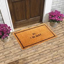 hi i u0027m mat coir doormat u2013 coco doormats modern u0026 elegant coir