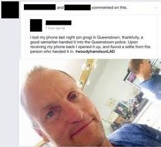 Lost Phone Meme - woody harrelson finds lost phone i can has cheezburger