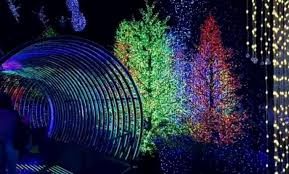this festive light display at universal studios singapore just