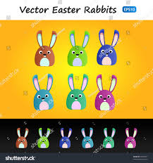 cute funny rabbits easter designs stock vector 98555951 shutterstock