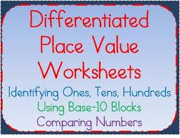 place value worksheets understanding ones tens hundreds