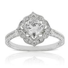princess cut halo engagement ring princess cut halo engagement ring 14k ben bridge jeweler