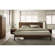 bora bed with wooden headboard u0026 metal legs by mobican available