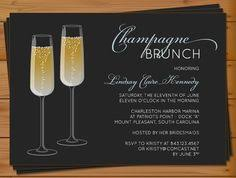chagne brunch invitations chagne bridal shower invitation bachelorette by pinchofspice