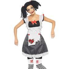 womens new dead rag doll halloween gothic fancy dress