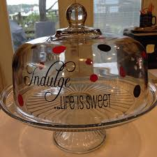 personalized cake plate glass cake plate personalized cake stand monogram cake