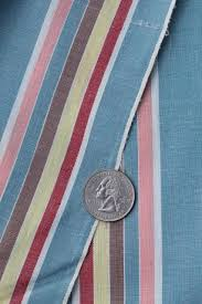 or 40s vintage fabric candy striped cotton shirting dapper dress