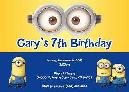 minions birthday invitations marialonghi com