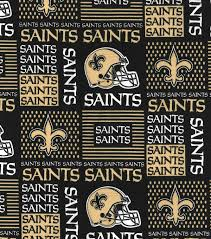 nfl cotton new orleans saints patch joann