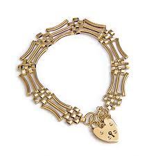 gold vintage bracelet images 9ct yellow gold gate bracelet with heart padlock vintage jpg