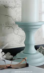 Diy Home Decore Painted Candlesticks Beautiful Diy Home Decor Setting For Four