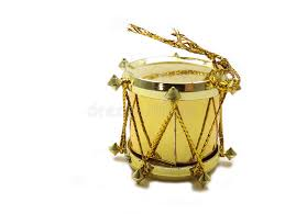 gold drum tree ornament stock photos image 35894703