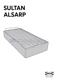 ikea beds sultan alsarp bed base assembly instruction download free