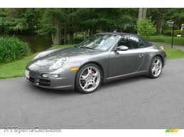 grey porsche 911 convertible 2008 porsche 911 carrera s cabriolet in meteor grey metallic