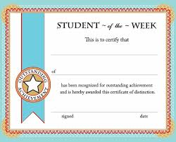 Student Of The Week Certificate Template student of the week certificate free printable back to school