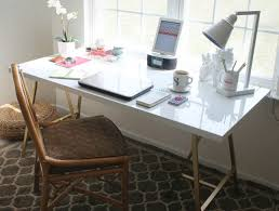 Industrial Looking Desk by Taking Care Of Business 23 Stylish Home Office Hacks Brit Co