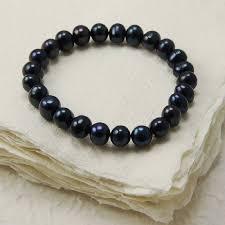 black pearl bracelet images Elasticated freshwater pearl bracelet by highland angel jpg