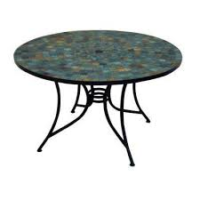 Tile Top Patio Table Harbor Patio Furniture Outdoors The Home Depot