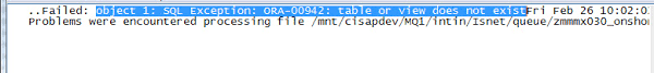 Ora 00942 Table Or View Does Not Exist Error Object 1 Sql Exception Ora 00942 Table Or View Does Not Exist