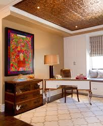 copper ceiling tiles home office traditional with beige walls image by erika bierman photography