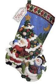 Felt Christmas Stocking Tree Decoration by 77 Best Bucilla Images On Pinterest Felt Christmas Stockings
